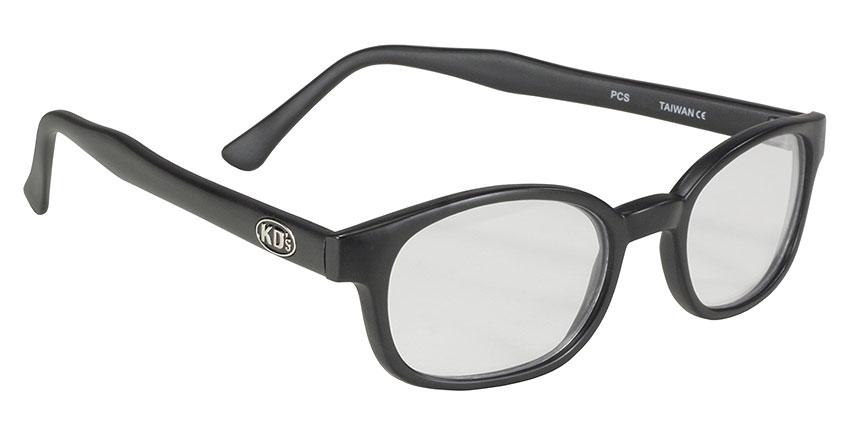 X KD /'S Occhiali da sole originali Tonalità Biker Moto Matte Black Clear 10015