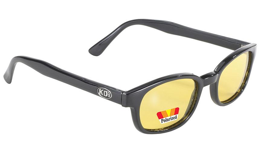 Pacific Coast 2019 Original KDs Polarized Biker Sunglasses Black Frame//Smoke Lens