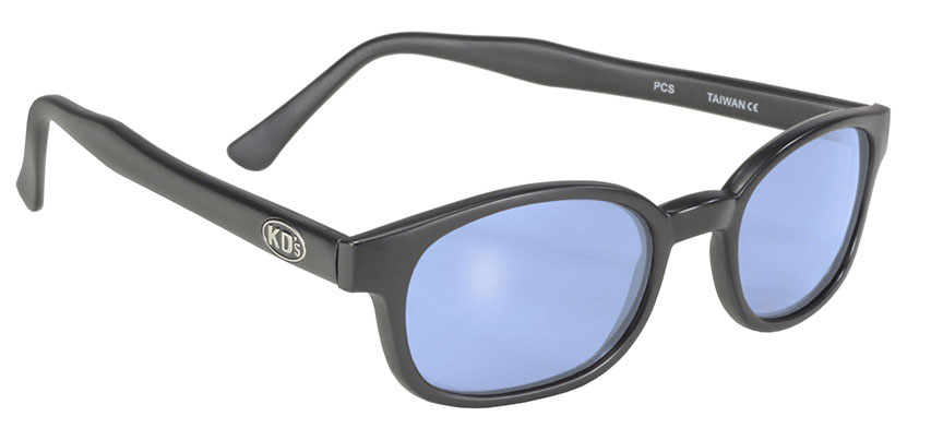 X - KD's - 10012 Matte Black/Light Blue Motorcycle sunglasses, Blue lenses, Blue lens sunglass, the best blue lens sunglasses, UV Protection