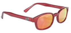 X - KD's - 10124 - Fire Red Sunglasses, Fire KD Sunglasses, Red Mirror Lenses, Motorcycle Mirror Sunglasses, Mirror Lenses