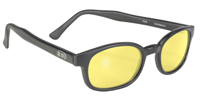X - KD's - 11112 Matte Black/Yellow Lens