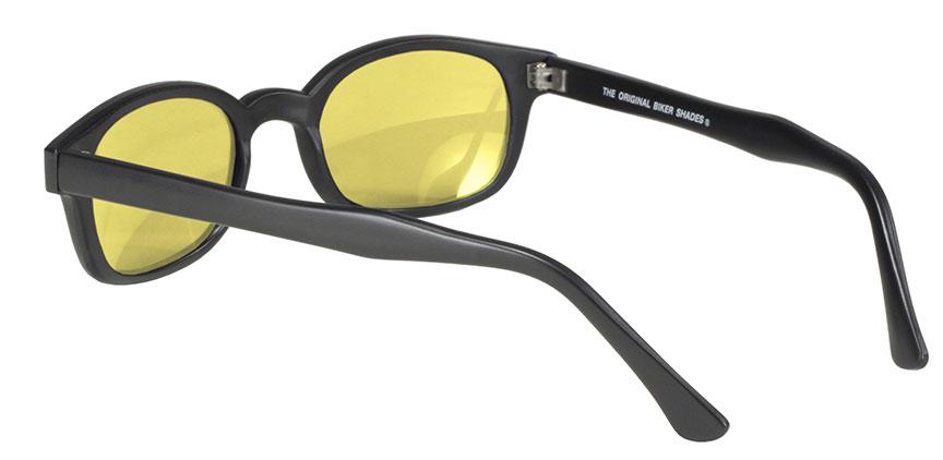 X KD/'s Sunglasses Original Biker Shades Motorcycle Black Silver Mirror 11010