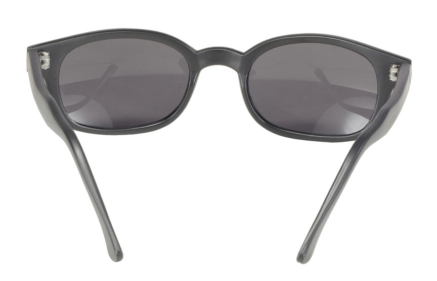 KD's 1 Pair Matte Black Polarized Gray Lens Old School Biker Sunglasses 20019