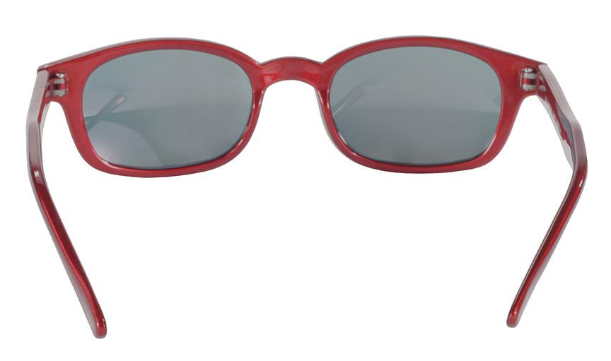 KD's Original 1 Pair Metallic Red Mirror Lens Old School Biker Sunglasses 20124