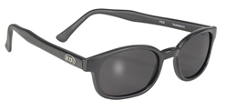 KD's - 21120 Matte Black/Dark Grey Lens KD sunglasses, motorcycle sunglasses, matte frame, dark grey lenses, biker sunglasses,