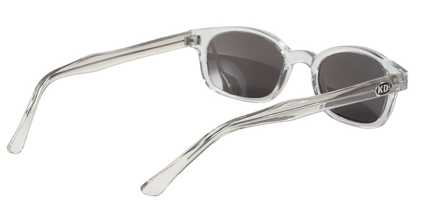 KD's 1 Pair Chill Clear Frame Silver Mirror Lens Old School Biker Sunglasses