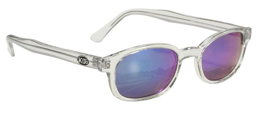 KD/'s Sunglasses Original Biker Shades Motorcycle Matte Black Clear 20015
