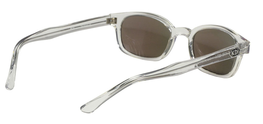 KD's 1 Pair Chill Clear Frame Colored Mirror Lens Old School Biker Sunglasses
