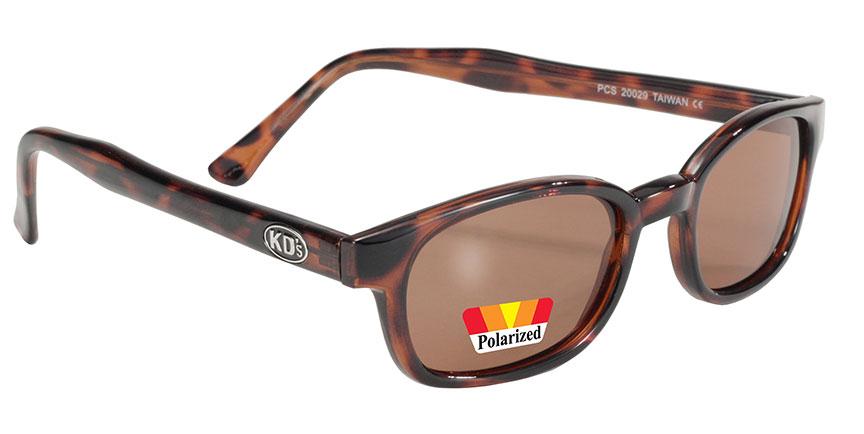 KD's Original 1 Tortoise Brown Fade Old School Biker Polarized Sunglasses 200