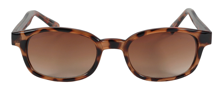 KD's Original 1 Pair Tortoise Brown Fade Old School Biker Sunglasses 200