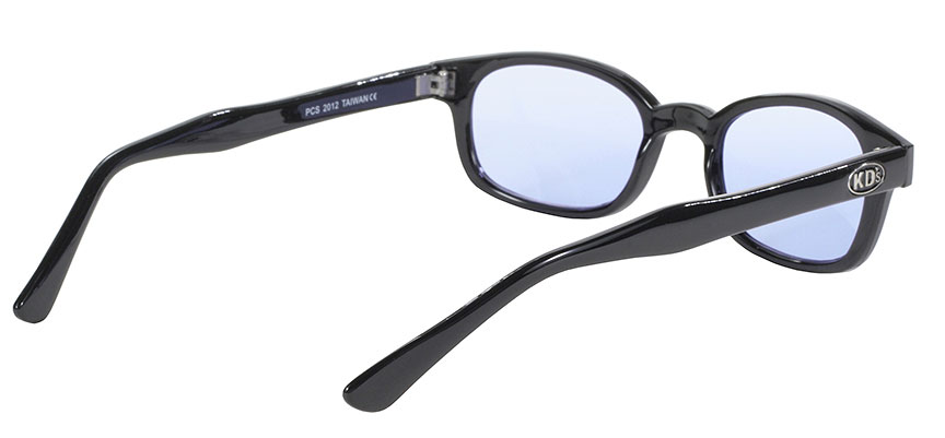 KD's Original 1 Pair Black Light Blue Lens Old School Biker Sunglasses 2012