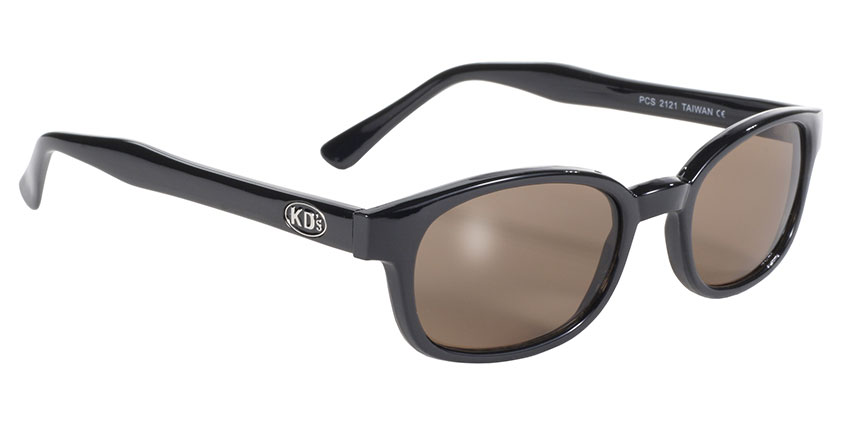 KD's Original 1 Pair Black Frame Brown Lens Old School Biker Sunglasses 2121