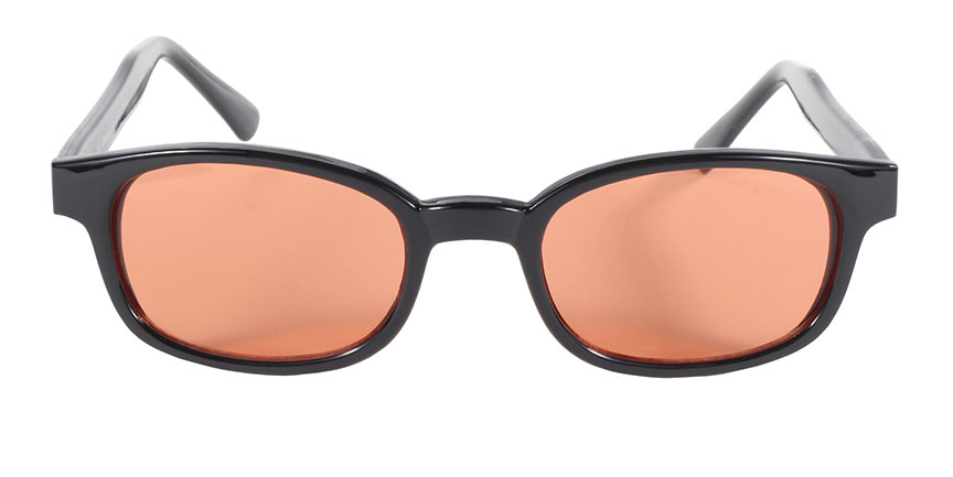 KD's Original 1 Pair Black Frame Orange Lens Old School Biker Sunglasses 2128