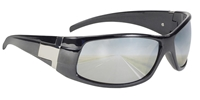Road Run - Silver Mirror Grey Lens/Black Metallic Frame