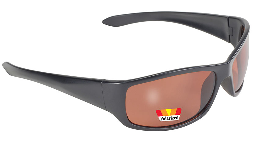 Road Wrap - Amber Polarized/Black 207