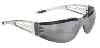 Heat - Light Silver Mirror Lens/Silver Metal Flames