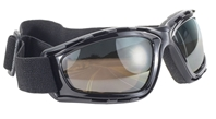 Kickstart Force Goggle - Brown with silver mirror/Black
