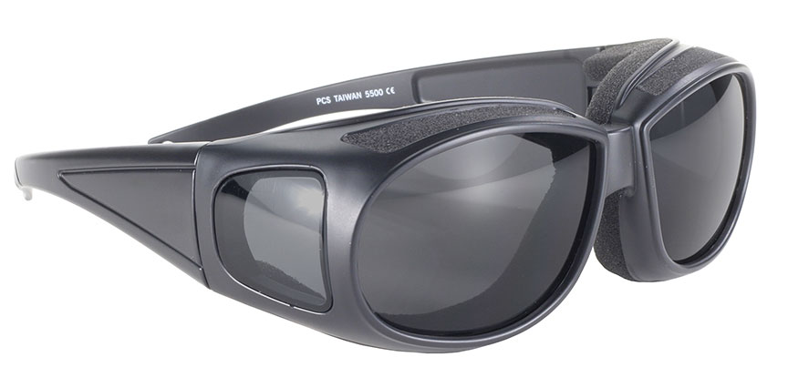 Defender - Smoke/Black - Can Be Worn Over Eyeglasses! Padded Fit Over Motorcycle Sunglass, Over Prescription Padded Glasses, Comfortable Fit Over Padded Sunglass